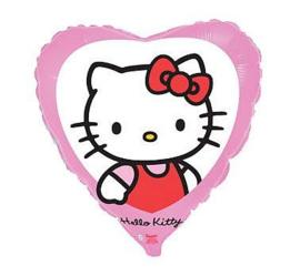 Hello Kitty hart folieballon 45 cm.