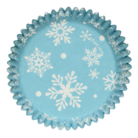 Sneeuwvlok cupcake vormpjes 48 st.