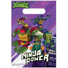 Ninja Turtles traktatiezakjes party 8 st.