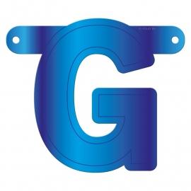 Banner letter G blauw