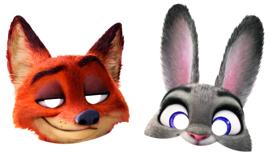 Disney Zootropolis maskers 6 st.