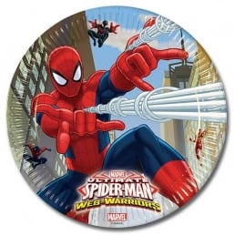 Spiderman Web-Warriors gebakbordjes ø 19,5 cm. 8 st.