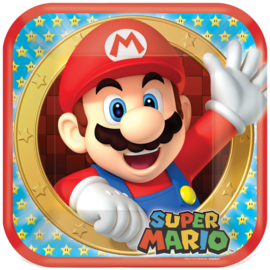 Super Mario Bros bordjes 22,9 cm. 8 st.