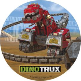 Dinotrux taart decoratie