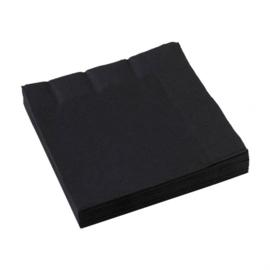 Servetten zwart 33 x 33 cm. 20 st.