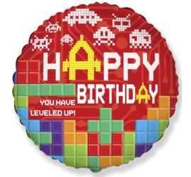 Lego Block Party folieballon You Have Leveled Up! ø 45 cm.