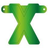 Banner letter X lime groen