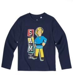 Brandweerman Sam longsleeve blauw mt. 140