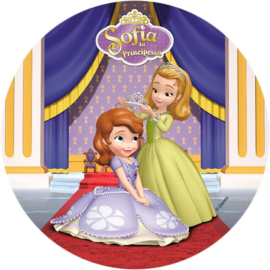 Disney Sofia the First eetbare ouwel taart decoratie ø 21 cm. C