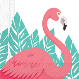 Flamingo servetten 33 x 33 cm. 20 st.