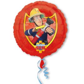Brandweerman Sam folieballon B ø 43 cm.