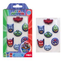 PJ Masks suikerdecoratie 7 st.