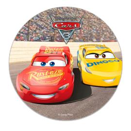 Disney Cars eetbare taart decoratie ø 16 cm.