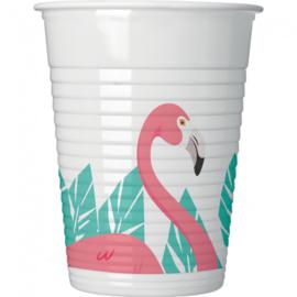 Flamingo bekertjes 200 ml. 8 st.