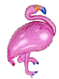 Flamingo folieballon 70 x 121 cm.