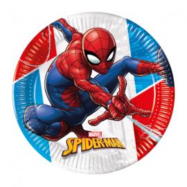 Spiderman gebakbordjes Super Hero ø 19,5 cm. 8 st.