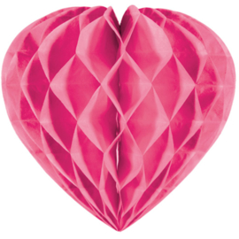 Honeycomb hart roze ø 30 cm.