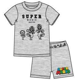 Super Mario Bros shortama grijs mt. 104