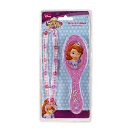 Disney Sofia the First ketting en haarborstel cadeauset