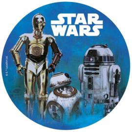 Star Wars ouwel taart decoratie ø 20 cm.
