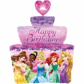Disney Princess taart folieballon happy birthday XL