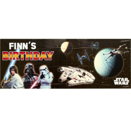 Star Wars personalised banner 1,2 mtr.