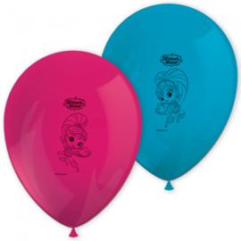 Shimmer and Shine ballonnen glitter friends ø 28 cm. 8 st.