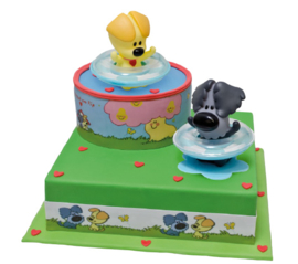 Woezel en Pip taart topper set