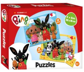 Bing puzzel 2 x 12 stukjes