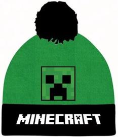 Minecraft Creeper muts met pompon mt. 52