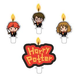 Harry Potter taart kaarsjes set 4-delig