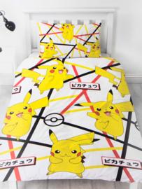 Pokémon dekbedovertrek Pikachu 140 x 200 cm.