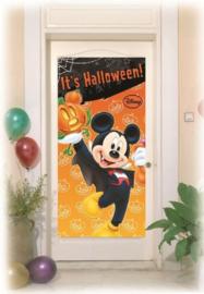 Disney Mickey Halloween deurposter 76 x 152 cm.