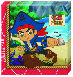 Disney Captain Jake servetten 33 x 33 cm. 20 st.