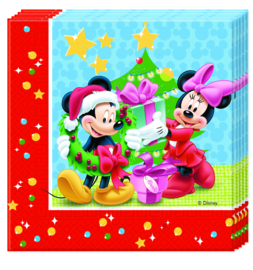 Disney Mickey Christmas servetten 33 x 33 cm. 20 st.