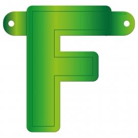 Banner letter F lime groen
