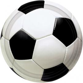 Voetbal gebakbordjes ø 17,8 cm. 8 st.