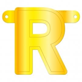 Banner letter R geel
