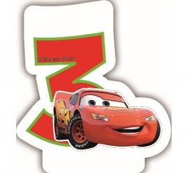 Disney Cars 3e verjaardagskaars