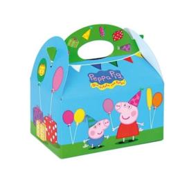 Peppa Pig traktatiedoosje 16 x 10 x 16 cm.