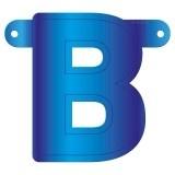 Banner letter B blauw