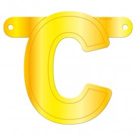 Banner letter C geel