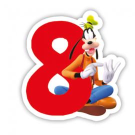 Disney Goofy 8e verjaardag taart kaars