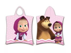 Masha and the Bear bad poncho 50 x 115 cm.