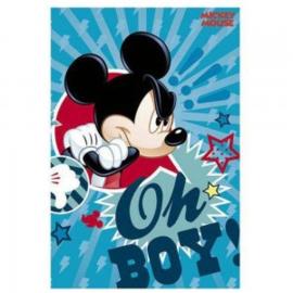 Disney Mickey Mouse fleecedeken Oh Boy 100 x 150 cm.