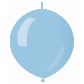 Knoopballonnen metallic licht blauw ø 30 cm. 10 st.