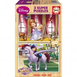 Disney Sofia the First puzzel 2 x 50 stukjes