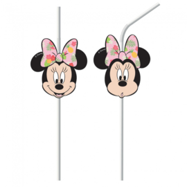 Disney Minnie Mouse tropical rietjes 6 st.