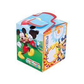 Disney Mickey Mouse traktatie doosje 10 x 10 x 11 cm.