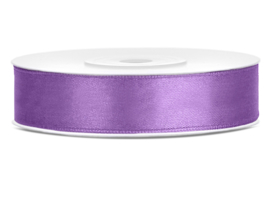 Satijn lint lavendel 12 mm. x 25 mtr.